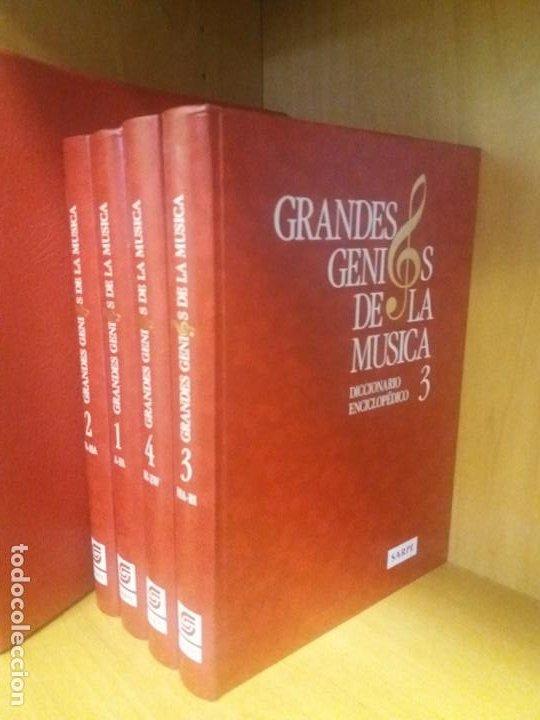 Libros: Diccionario enciclopédico GRANDES GENIOS DE LA MUSICA (4 Tomos) - Foto 4 - 197390472