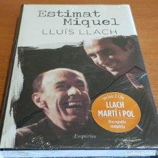 Libros: ESTIMAT MIQUEL / LLUÍS LLACH / INCLOU 2 CDS - DISCOGRAFIA COMPLETA / LIBRO PRECINTADO.. Lote 200522403