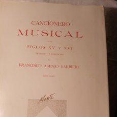 Libros: CANCIONERO MUSICAL. Lote 203943947