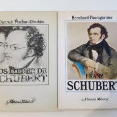 Libros: LOTE FRANK SCHUBERT, 2 LIBROS DE ALIANZA MÚSICA. Lote 207228050