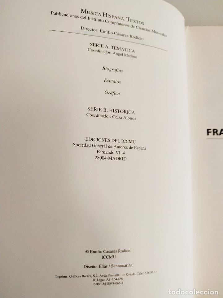 Libros: Francisco Asenjo Barbieri. Escritos. Emilio Casares Rodicio. 1994 - Foto 3 - 211679389