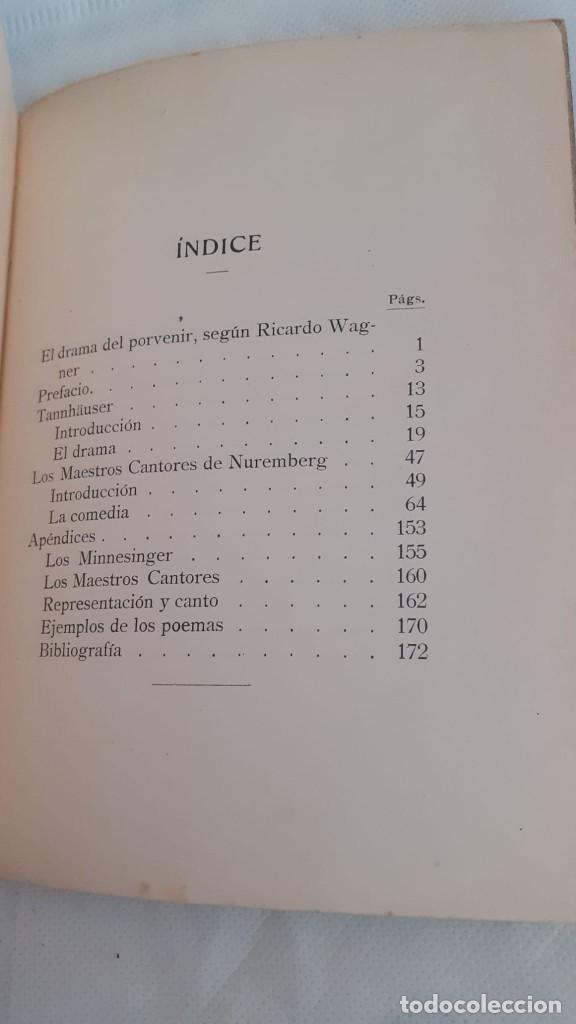 Libros: TANNHÄUSER Y LOS MAESTROS CANTORES DE NUREMBERG. DESCRIPCIÓN E INTERPRETACIÓN CON ARREGLO A LOS ESCR - Foto 6 - 218286677