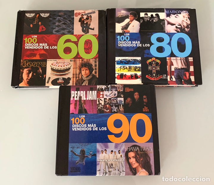 LOTE DE LIBROS LOS 100 DISCOS MÁS VENDIDOS DE LOS 60/80/90 (Libros Nuevos - Bellas Artes, ocio y coleccionismo - Música)