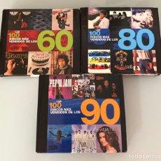 Libros: LOTE DE LIBROS LOS 100 DISCOS MÁS VENDIDOS DE LOS 60/80/90. Lote 218733888