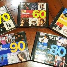 Libros: COLECCION COMPLETA LOS 100 DISCOS MAS VENDIDOS DE LOS 50, 60, 70, 80, 90. Lote 222180398