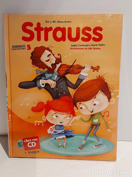 DO Y MI DESCUBREN STRAUSS / GRANDES COMPOSITORES 5 / LIBRO CON CD + JUEGOS / PRECINTADO. (Libros Nuevos - Bellas Artes, ocio y coleccionismo - Música)