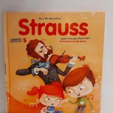 Libros: DO Y MI DESCUBREN STRAUSS / GRANDES COMPOSITORES 5 / LIBRO CON CD + JUEGOS / PRECINTADO.. Lote 227057017