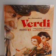 Libros: DO Y MI DESCUBREN VERDI / GRANDES COMPOSITORES 11 / LIBRO CON CD + JUEGOS / PRECINTADO.. Lote 227058560