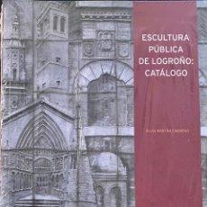 Libros: ESCULTURA PÚBLICA DE LOGROÑO: CATÁLOGO. SILVIA MARTINEZ MORENO - NUEVO. Lote 230222140