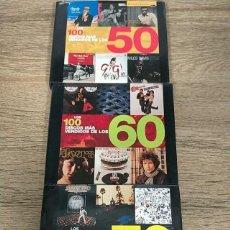 Libros: LOTE 3 LIBROS - LOS 100 DISCOS MÁS VENDIDOS - AÑOS 50 - 60 -70. Lote 236827540