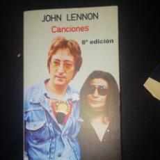 Libros: JOHN LENNON (LETRA DE SUS CANCIONES). Lote 248993370
