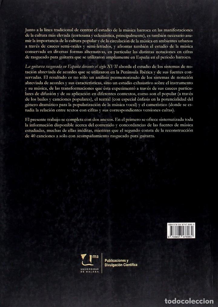 Libros: VALDIViA, Francisco A. La guitarra rasgueada en España durante el siglo XVII. 2015. - Foto 2 - 253468160