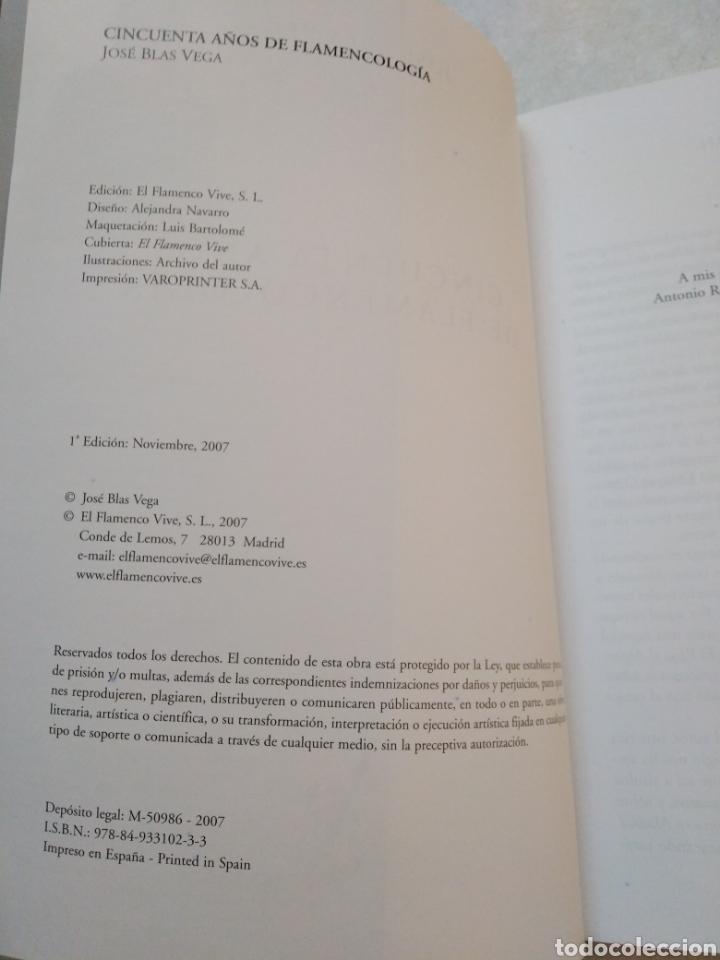 Libros: 50 años de flamencologia, José Blas Vega - Foto 5 - 254456840