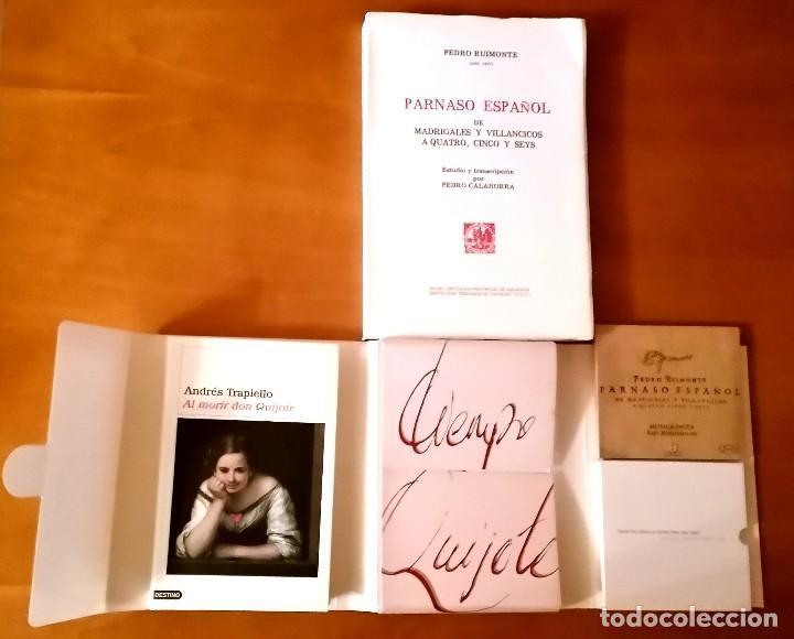 Libros: AL MORIR DON QUIJOTE, ANDRÉS TRAPIELLO. PEDRO RUIMONTE, PARNASO ESPAÑOL MADRIGALES, VILLANCICOS (3) - Foto 2 - 257543115