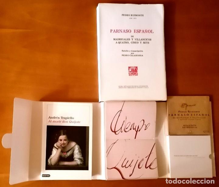 Libros: AL MORIR DON QUIJOTE, ANDRÉS TRAPIELLO. PEDRO RUIMONTE, PARNASO ESPAÑOL MADRIGALES, VILLANCICOS (3) - Foto 4 - 257543115