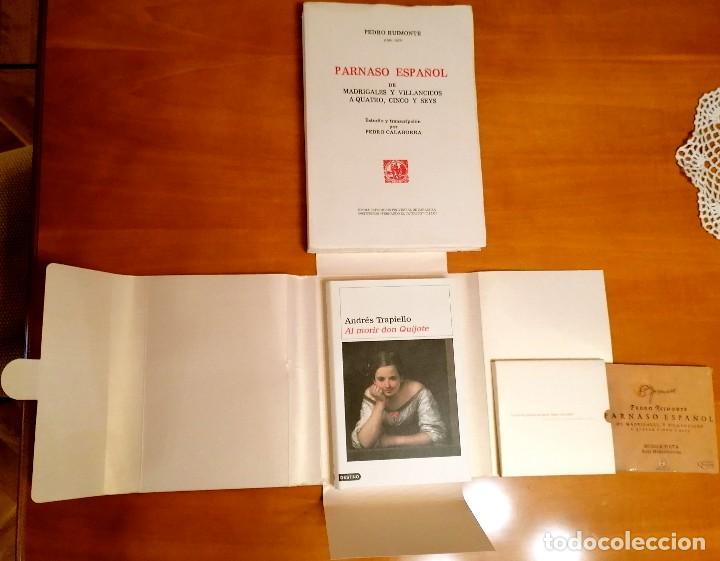Libros: AL MORIR DON QUIJOTE, ANDRÉS TRAPIELLO. PEDRO RUIMONTE, PARNASO ESPAÑOL MADRIGALES, VILLANCICOS (3) - Foto 12 - 257543115