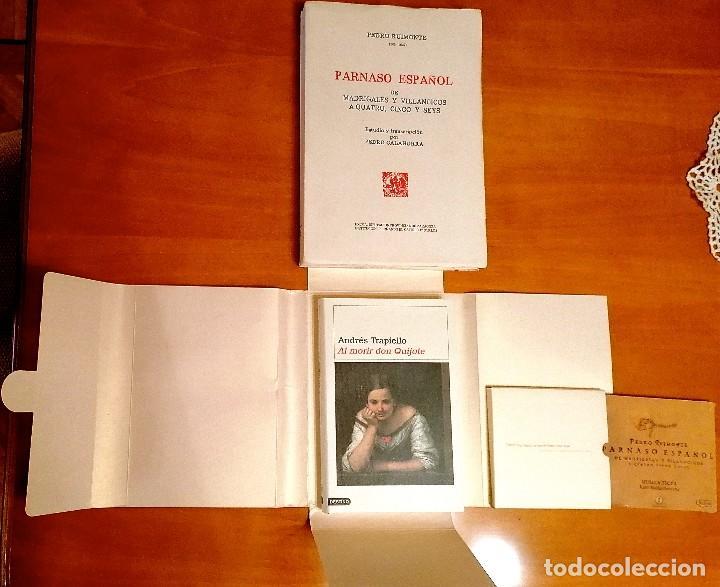 Libros: AL MORIR DON QUIJOTE, ANDRÉS TRAPIELLO. PEDRO RUIMONTE, PARNASO ESPAÑOL MADRIGALES, VILLANCICOS (3) - Foto 13 - 257543115