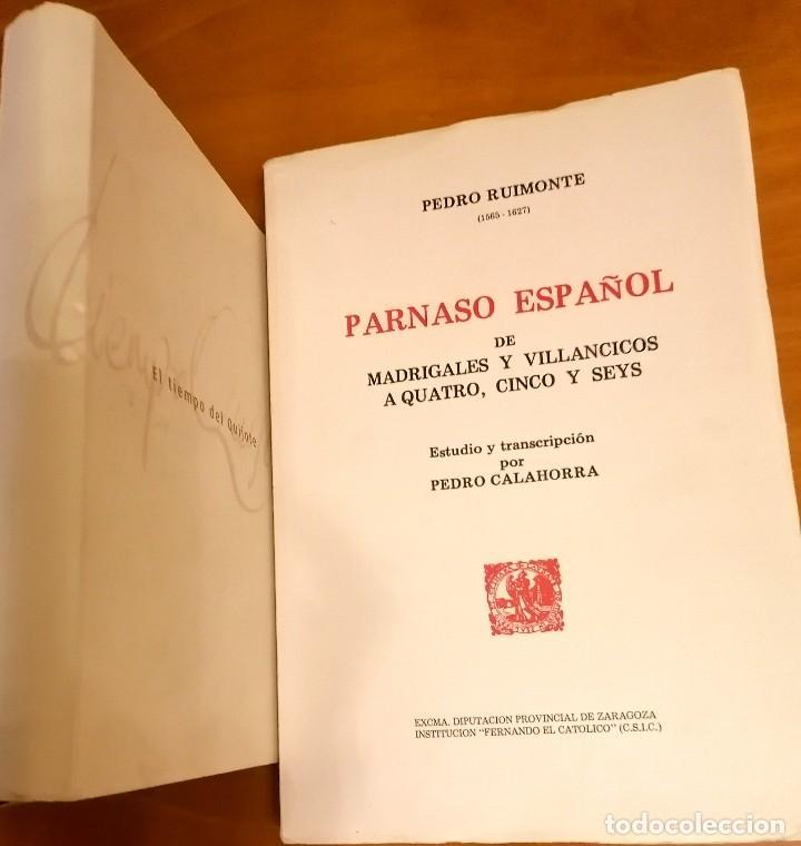 Libros: AL MORIR DON QUIJOTE, ANDRÉS TRAPIELLO. PEDRO RUIMONTE, PARNASO ESPAÑOL MADRIGALES, VILLANCICOS (3) - Foto 16 - 257543115