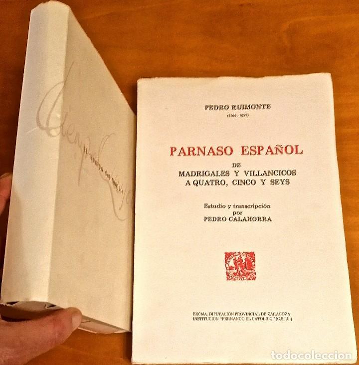 Libros: AL MORIR DON QUIJOTE, ANDRÉS TRAPIELLO. PEDRO RUIMONTE, PARNASO ESPAÑOL MADRIGALES, VILLANCICOS (3) - Foto 18 - 257543115