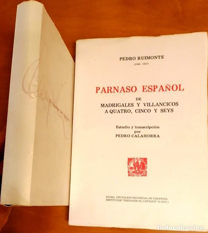 Libros: AL MORIR DON QUIJOTE, ANDRÉS TRAPIELLO. PEDRO RUIMONTE, PARNASO ESPAÑOL MADRIGALES, VILLANCICOS (3) - Foto 20 - 257543115