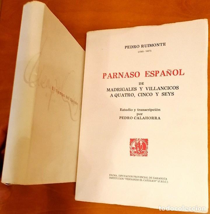Libros: AL MORIR DON QUIJOTE, ANDRÉS TRAPIELLO. PEDRO RUIMONTE, PARNASO ESPAÑOL MADRIGALES, VILLANCICOS (3) - Foto 21 - 257543115