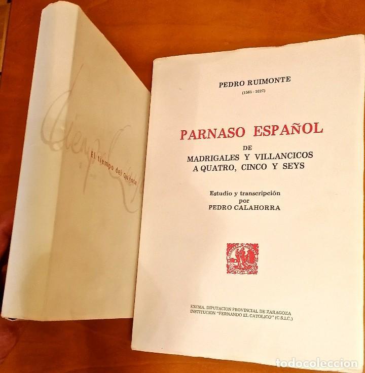 Libros: AL MORIR DON QUIJOTE, ANDRÉS TRAPIELLO. PEDRO RUIMONTE, PARNASO ESPAÑOL MADRIGALES, VILLANCICOS (3) - Foto 22 - 257543115