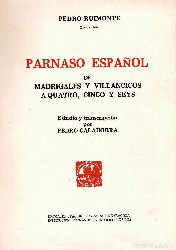 Libros: AL MORIR DON QUIJOTE, ANDRÉS TRAPIELLO. PEDRO RUIMONTE, PARNASO ESPAÑOL MADRIGALES, VILLANCICOS (3) - Foto 23 - 257543115