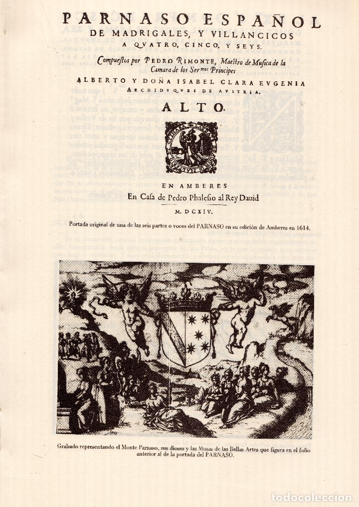 Libros: AL MORIR DON QUIJOTE, ANDRÉS TRAPIELLO. PEDRO RUIMONTE, PARNASO ESPAÑOL MADRIGALES, VILLANCICOS (3) - Foto 25 - 257543115