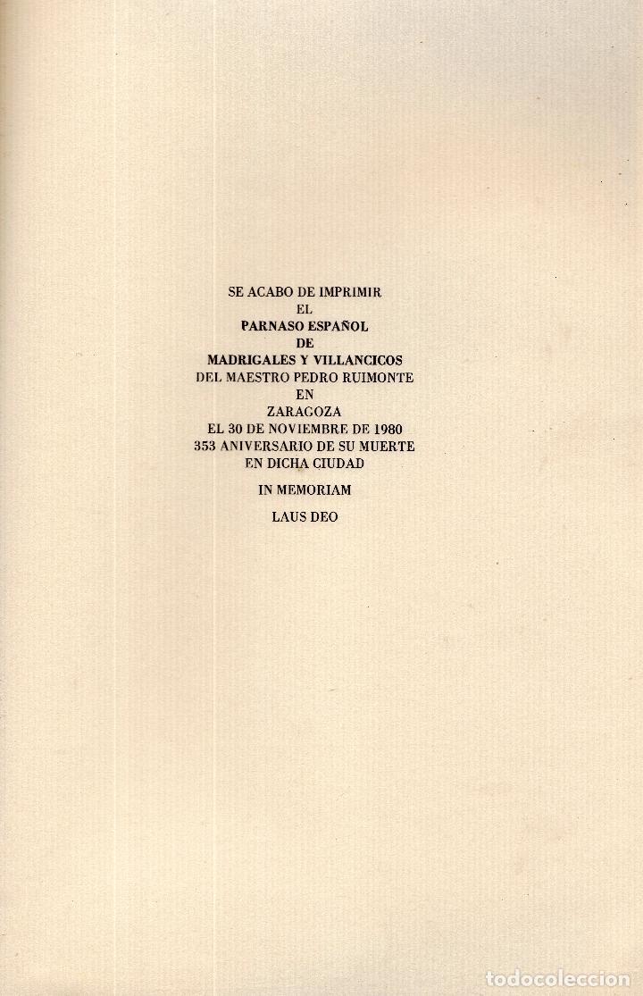Libros: AL MORIR DON QUIJOTE, ANDRÉS TRAPIELLO. PEDRO RUIMONTE, PARNASO ESPAÑOL MADRIGALES, VILLANCICOS (3) - Foto 29 - 257543115