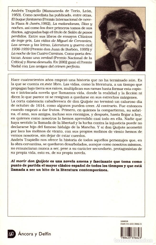 Libros: AL MORIR DON QUIJOTE, ANDRÉS TRAPIELLO. PEDRO RUIMONTE, PARNASO ESPAÑOL MADRIGALES, VILLANCICOS (3) - Foto 39 - 257543115