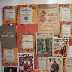 Libros: 16 LIBROS FACSÍMILES RELATIVOS AL FLAMENCO. CASTAÑUELAS CANTE JONDO CANTAORES CANTARES ANDALUCÍA. Lote 259213485