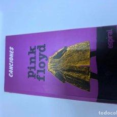 Livros: PINK FLOYD. CANCIONES.ESPIRAL, VER FOTOS. (3,33 ENVÍO CERTIFICADO). Lote 259919540