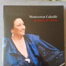 Libros: MONTSERRRAT CABALLÉ 40 ANYS AL LICEU. Lote 262591790