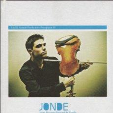 Libros: JONDE.JOVEN ORQUESTA NACIONAL DE ESPAÑA. 2008. NUEVO.. Lote 269766948