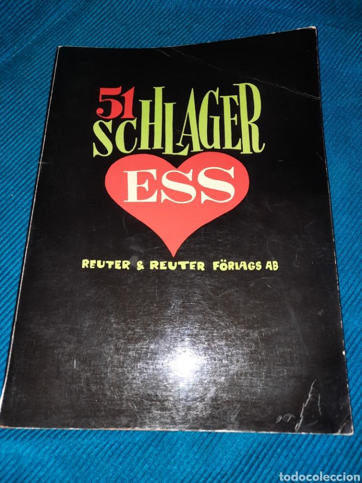 LIBRO CANCIONES Y PARTITURAS, 51 SCHLAGER ESS,REUTER & REUTER ,FORLAGAS 1971, SUECO (Libros Nuevos - Bellas Artes, ocio y coleccionismo - Música)