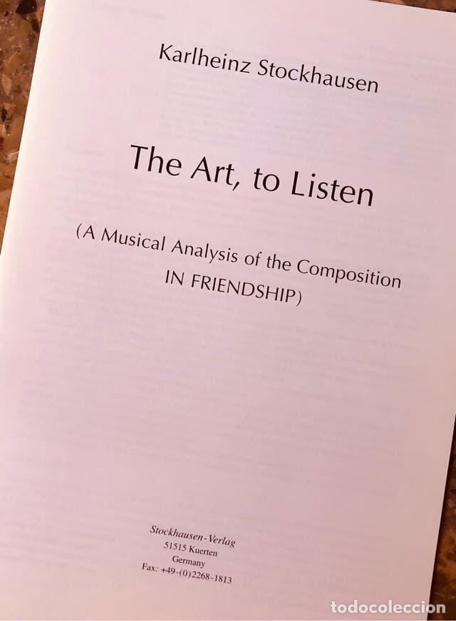 STOCKHAUSEN - THE ART TO LISTEN (Libros Nuevos - Bellas Artes, ocio y coleccionismo - Música)