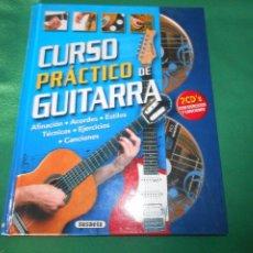 Libros: ATLAS ILUSTRADO CURSO PRACTICO DE GUITARRA 2 CD SUSAETA. Lote 289630693