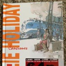Libros: BILLIE HOLIDAY - (COMIC 64 PAG + 2 CDS) TAPA DURA NUEVO Y PRECINTADO. Lote 290463178