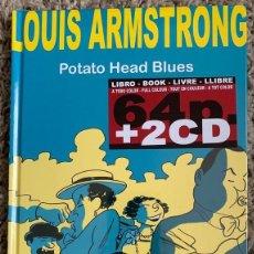 Libros: LOUIS ARMSTRONG (COMIC 64 PAG + 2 CDS) TAPA DURA NUEVO Y PRECINTADO. Lote 290463208