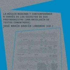 Libros: LA MÚSICA MODERNA Y CONTEMPORÁNEA A TRAVÉS DE LOS ESCRITOS DE SUS PROTAGONISTAS(UNA ANTOLOGÍA DE TEX. Lote 294935858
