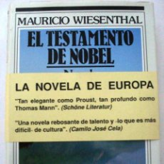 Libros: EL TESTAMENTO DE NOEL. (MAURICIO WIESENTHAL.). Lote 133566475