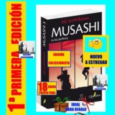 Libros: MUSASHI - LA LUZ PERFECTA - QUATERNI - PRIMERA 1ª EDICIÓN ABSOLUTA - NUEVO A ESTRENAR. Lote 133777110
