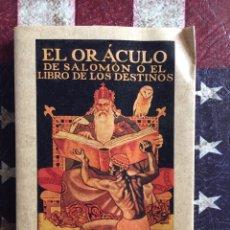 Libros: EL ORÁCULO DE SALOMÓN. Lote 142914138