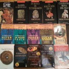 Libros: 15 NOVELAS SOBRE EGIPTO. NOVELA HISTÓRICA.. Lote 145017082