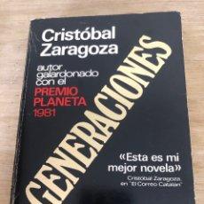 Libros: GENERACIONES. Lote 172684210