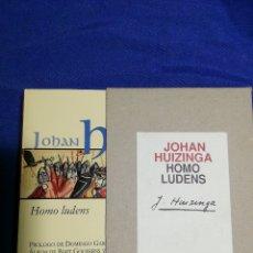 Libros: HOMO LUDENS. JOHAN HUIZINGA. TAPA DURA. NUEVO. Lote 180144603