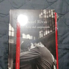 Libros: NUEVO EN EL PLÁSTICO! EL LÁPIZ DEL CARPINTERO. MANUEL RIVAS. Lote 202387352