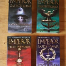 Libros: SERIE EMPEROR. LIBROS 1 A 4. TÍTULOS : THE GATES OF ROME, THE DEATH OF KINGS, THE FIELD OF SWORDS,. Lote 204633862