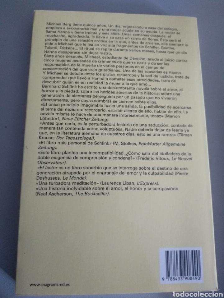 Libros: El lector. Schlink, Bernhard - Foto 2 - 210346965