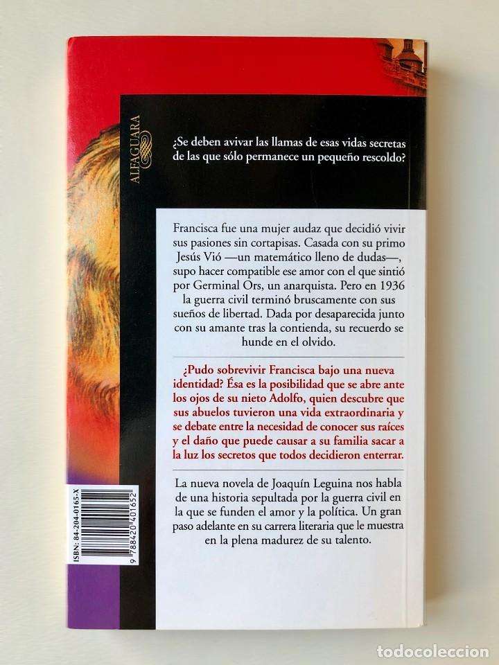 Libros: Libro. El Rescoldo. Joaquín Leguina. Guerra Civil Española. Franquismo. España. Posguerra - Foto 2 - 220397200